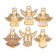 Wooden Laser Cut Shapes Various Sizes Decorative Bauble Topper Christmas Angels